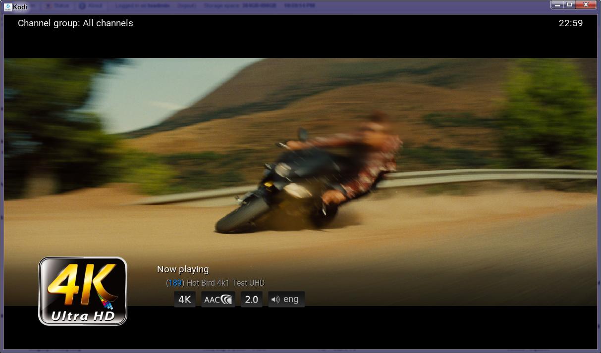 Feature #2940: UltraHD / HEVC support - Tvheadend