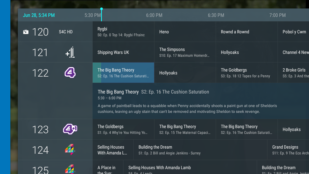 TVHeadend Live Channel for Android TV - Tvheadend