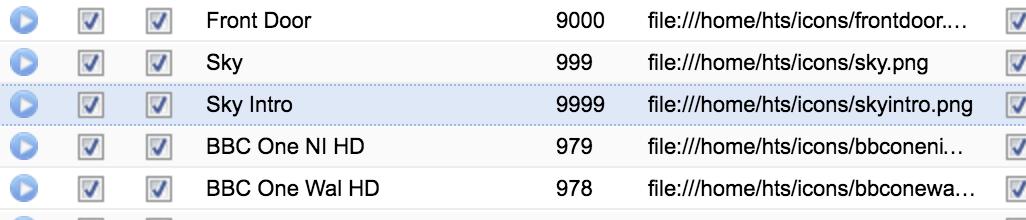 reset channel numbers? - Tvheadend