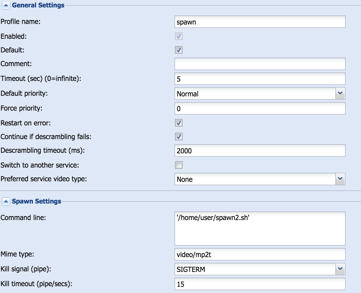 Tvheadend Transcode and HW minimum - Tvheadend