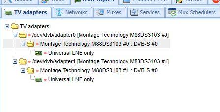 DVBSky S952 Installation Issue - Tvheadend