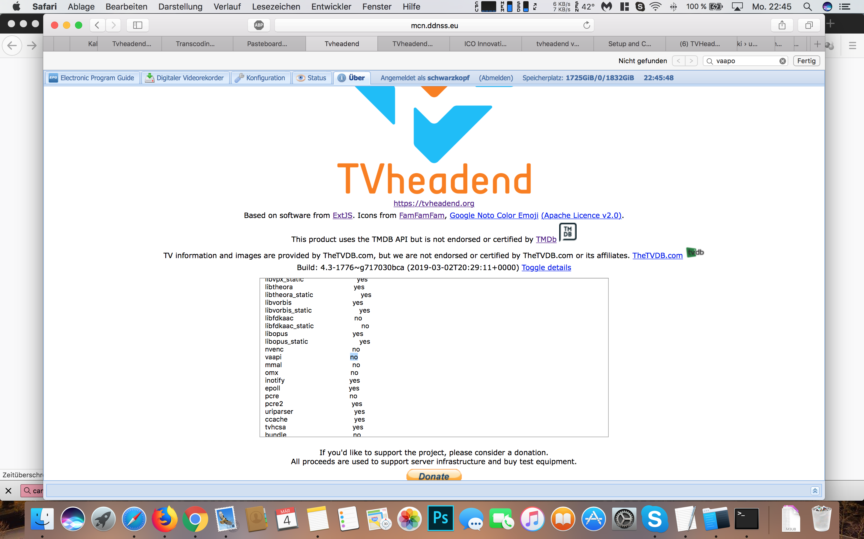 Tvheadend Transcoding not working good - Tvheadend